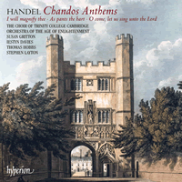 Handel Chandos Anthems Trinity Layton